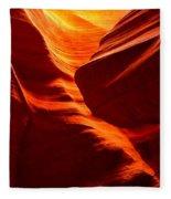 Fiery Sandstone Abstract Fleece Blanket