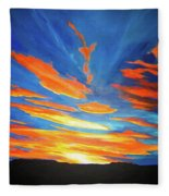 Fiery Skies Fleece Blanket