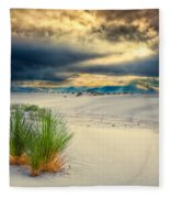 Fiery Sunrise At White Sands Fleece Blanket