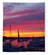 Fiery Sunset  Fleece Blanket