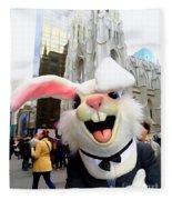 Fifth Ave Easter Bunny Fleece Blanket