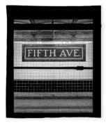 Fifth Ave Subway Fleece Blanket