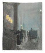 Fifth Avenue, Evening Fleece Blanket