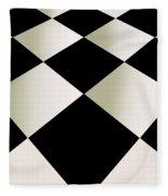 Fifties Kitchen Checkerboard Floor Fleece Blanket