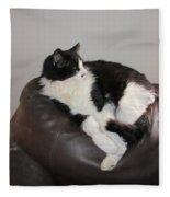 Figaro The Cat Fleece Blanket