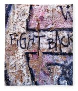 Fight Back - Berlin Wall Fleece Blanket