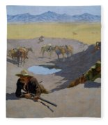 Fight For The Waterhole Fleece Blanket