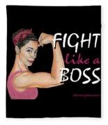 Fight Like A Boss Fundraiser Fleece Blanket