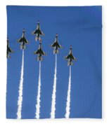 Fighter Attack Fleece Blanket