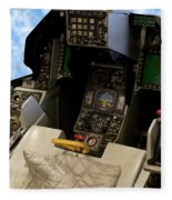 Fighter Jet Cockpit 01 Fleece Blanket