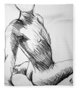 Figure Drawing 1 Fleece Blanket