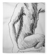 Figure Drawing 3 Fleece Blanket
