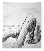 Figure Drawing 4 Fleece Blanket