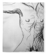 Figure Drawing 5 Fleece Blanket