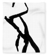 Figure Silhouette Fleece Blanket