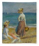 Figures On The Beach, 1890 Fleece Blanket