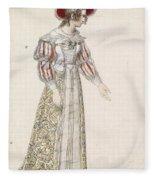 Figurine In Medieval Dress, Fleece Blanket