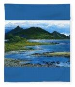 Fiji Rivermouth Robert Lyn Nelson Fleece Blanket
