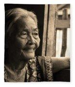 Filipino Lola - Image 14 Sepia Fleece Blanket