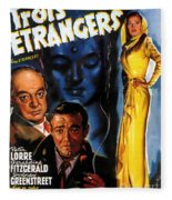 Film Noir Poster Three Strangers Fleece Blanket