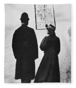 Film Still: Suffragette Fleece Blanket