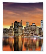 Financial District Sunset Fleece Blanket