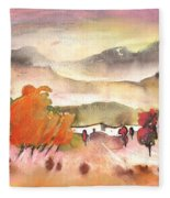 Finca In Spain Fleece Blanket