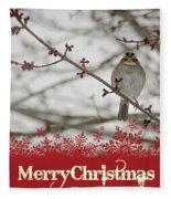 Finch Christmas Fleece Blanket