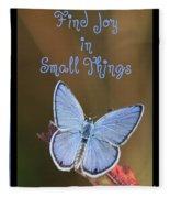 Find Joy In Small Things Fleece Blanket