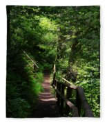 Finding The Right Path Fleece Blanket
