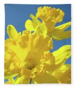 Fine Art Daffodils Floral Spring Flowers Art Prints Canvas Baslee Troutman Fleece Blanket