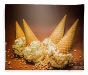 Fine Art Ice Cream Cone Spill Fleece Blanket