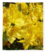 Fine Art Prints Yellow Rhodies Floral Garden Baslee Troutman Fleece Blanket