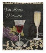 Fine French Wines - Vins Beaux Parisiens Fleece Blanket