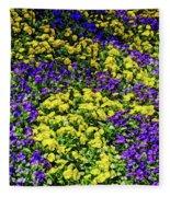 Fine Wine Cafe Colorful Garden Fleece Blanket