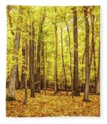 Fine Wine Cafe Golden Woods Fleece Blanket