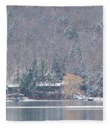 Finger Lakes Winter Panorama Fleece Blanket