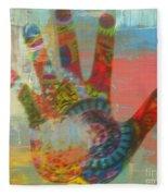 Finger Paint Fleece Blanket