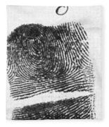 Fingerprints Of Vincenzo Peruggia, Mona Fleece Blanket