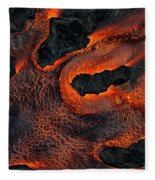 Fingers Of Lava Fleece Blanket