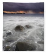 Fingers Of The Storm Fleece Blanket