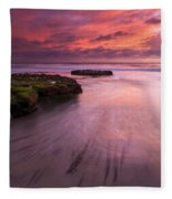 Fingers Of The Tide Fleece Blanket