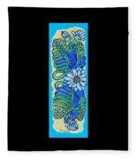 Finished15 Ink Drawing Handtowel Series W Black Background Fleece Blanket