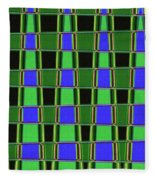 Fir Tree Fork Abstract #7075 Fleece Blanket