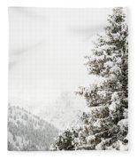 Fir Trees And Mountains Fleece Blanket
