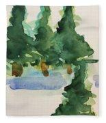 Fir Trees Fleece Blanket