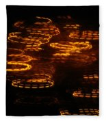 Fire Abstract  Fleece Blanket
