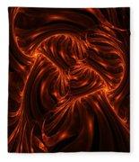 Fire Abstraction Fleece Blanket