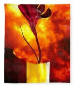 Fire And Flower Fleece Blanket