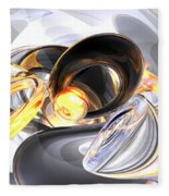 Fire And Ice Abstract Fleece Blanket